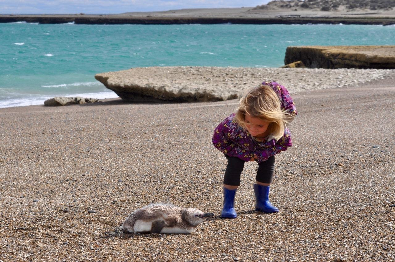 Romy mit Pinguin